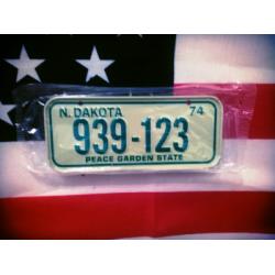 Americká SPZ na kolo r. 74
