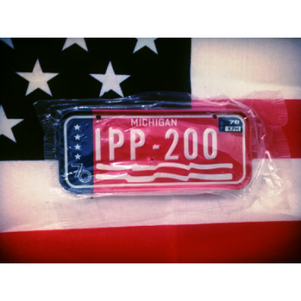 Americká SPZ na kolo r.78