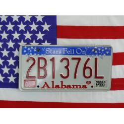 Americká SPZ Alabama 2B1376L