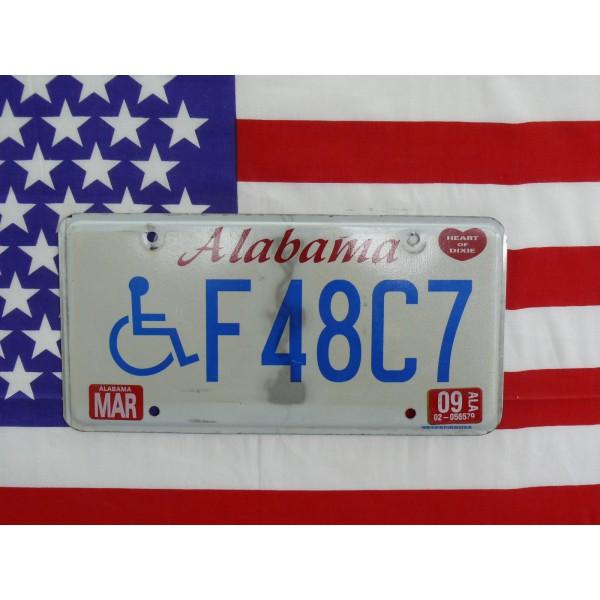 Americká SPZ Alabama f48c7