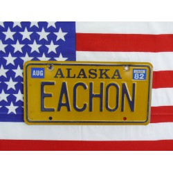 Americká SPZ Aljaška eachon