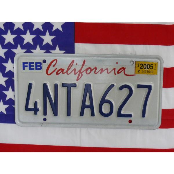Americká spz California 4nta627