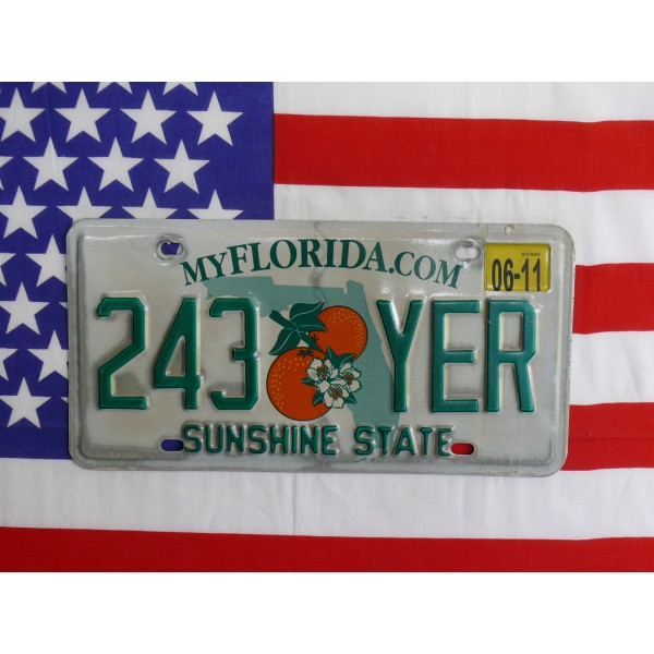 Americká spz Florida 243yer