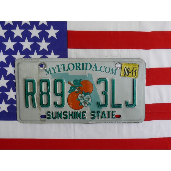 Americká spz Florida r893lj