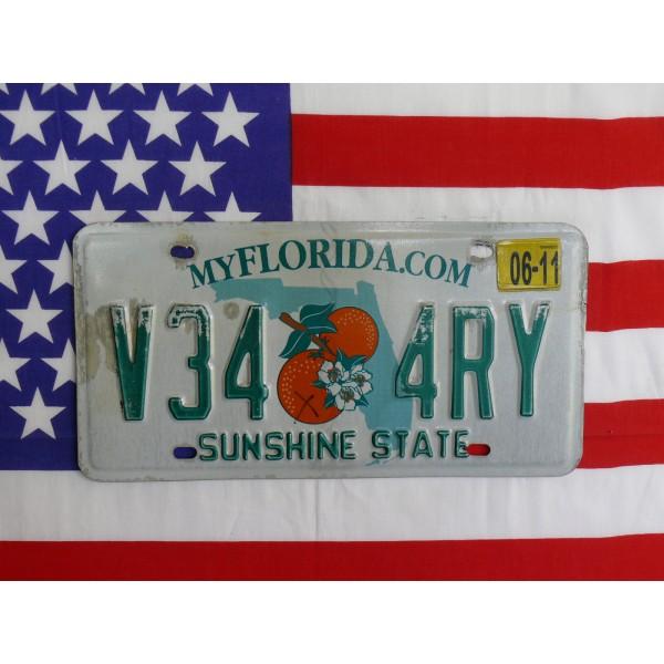 Americká spz Florida v34 4ry
