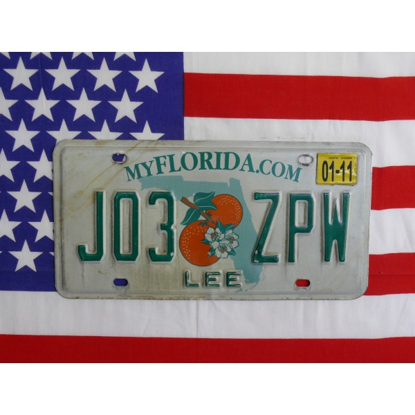Americká spz Florida j013zpw