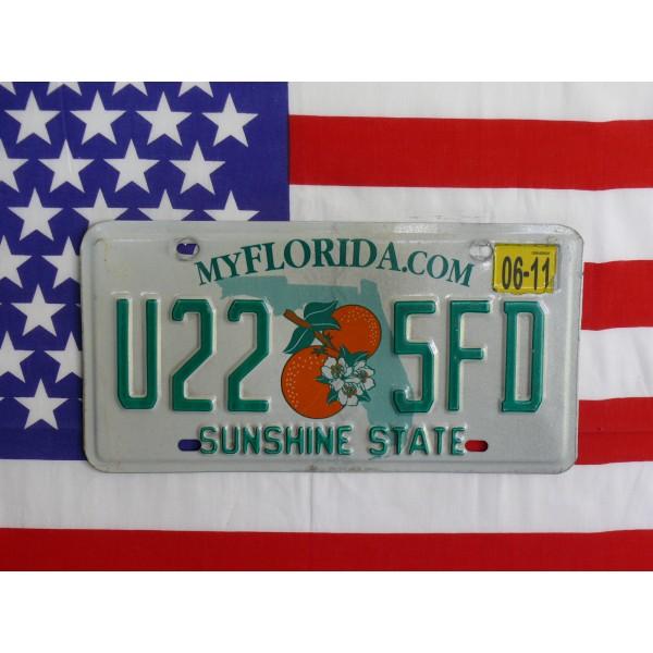 Americká spz Florida u225fd