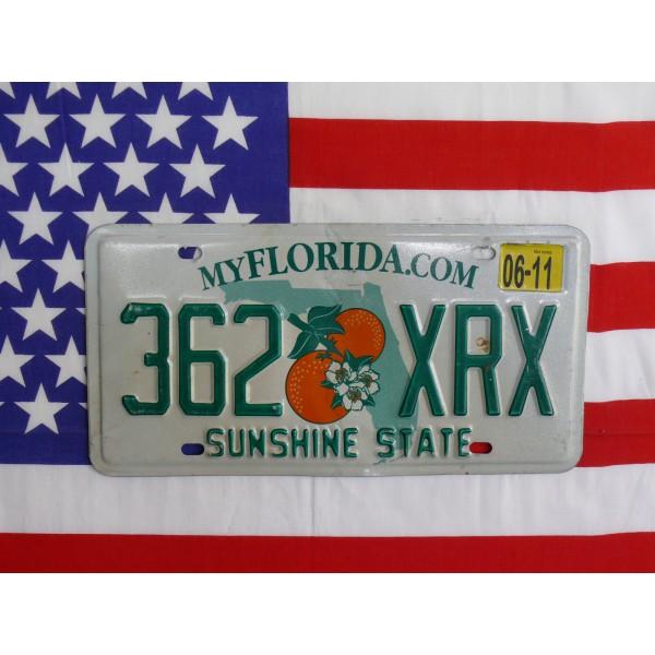 Americká spz Florida 362xrx