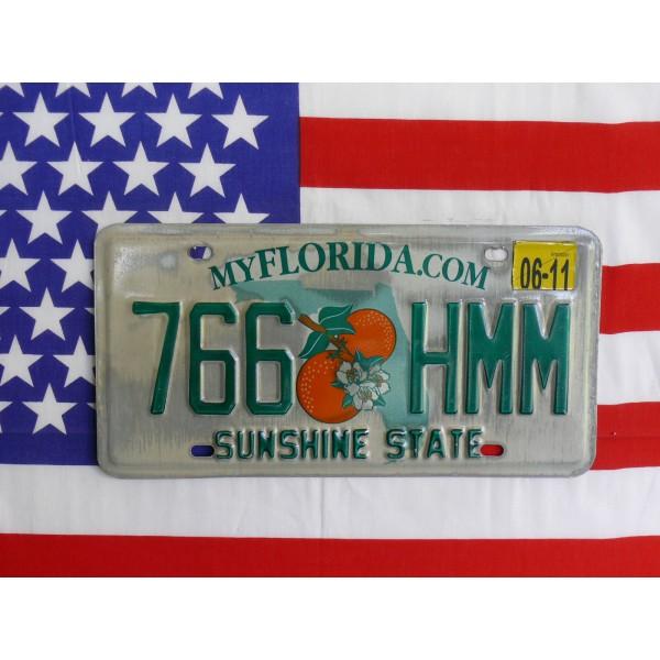 Americká spz Florida 766hmm