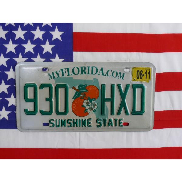 Americká spz Florida 930hxd