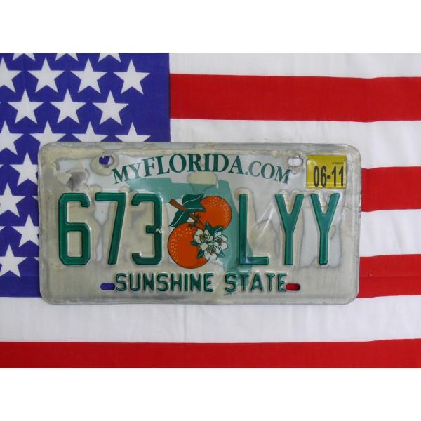 Americká spz Florida 673lyy