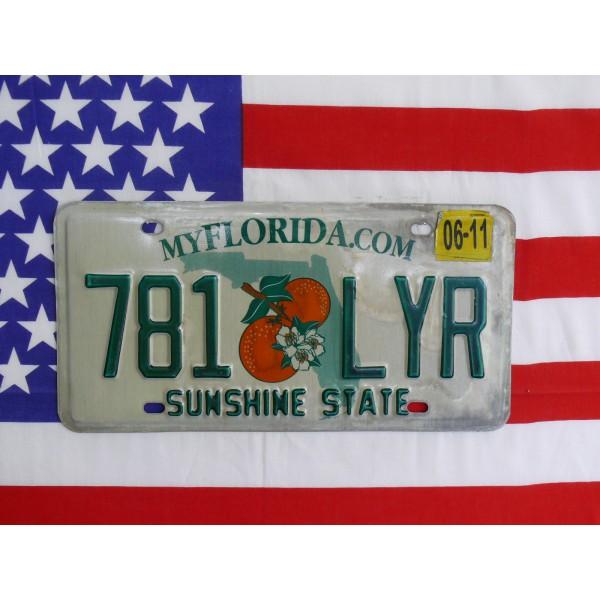 Americká spz Florida 781lyr