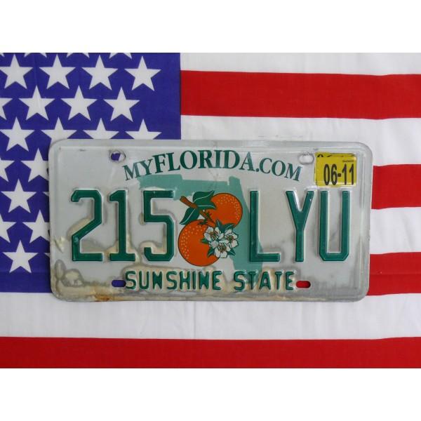Americká spz Florida 215lyu