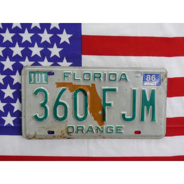 Americká spz Florida 360fjm