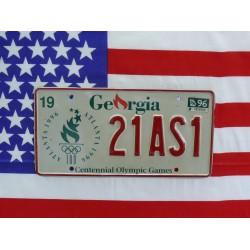 Americká spz Georgia Olympijské hry Atlanta 1996