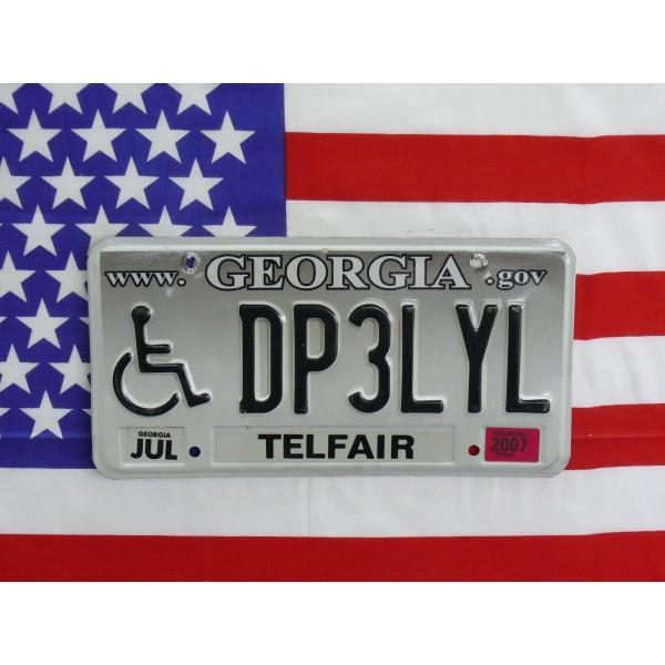 Americká spz Georgia dp3lyl