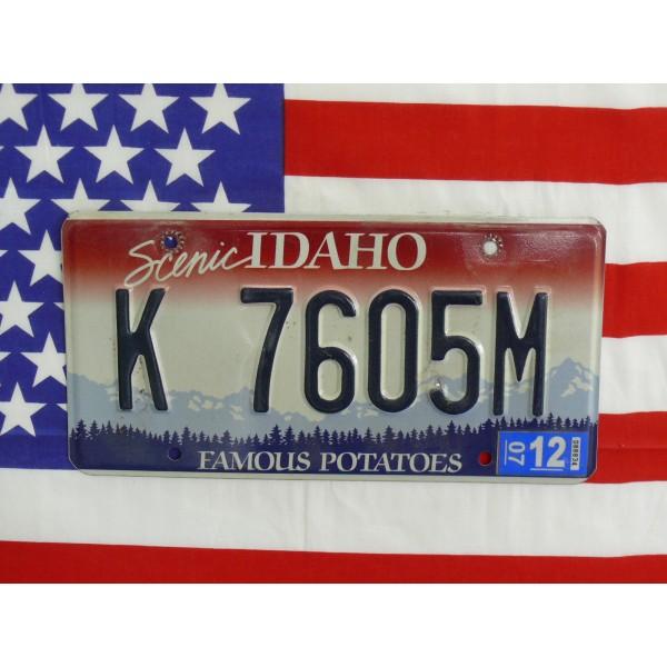 Americká spz Idaho k7605m
