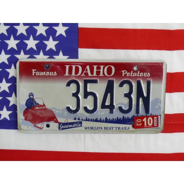 Americká spz Idaho snowmobile 3543n