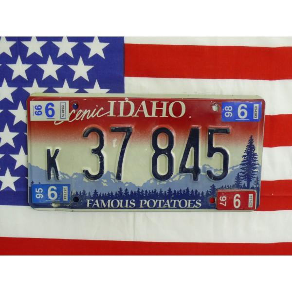 Americká spz Idaho k37 845