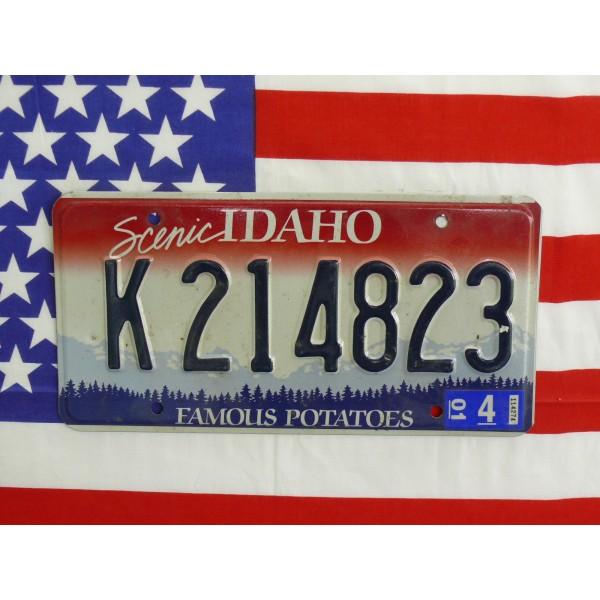 Americká spz Idaho k214823