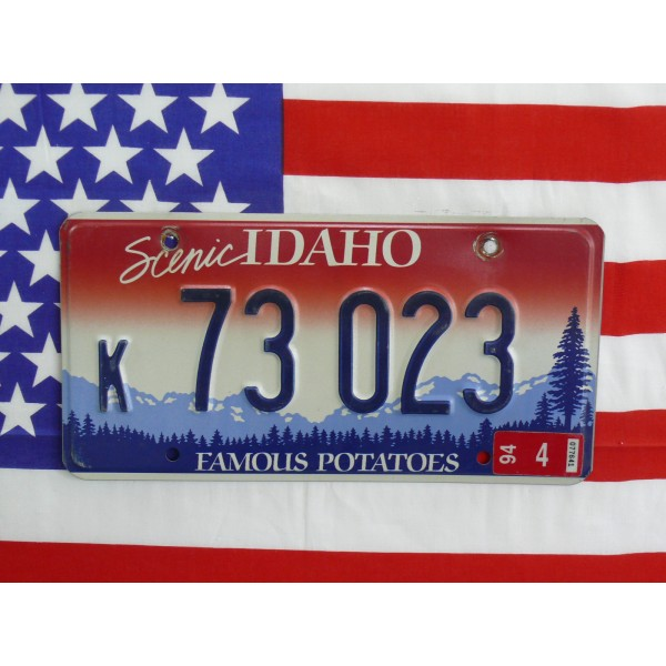 Americká spz Idaho k73023