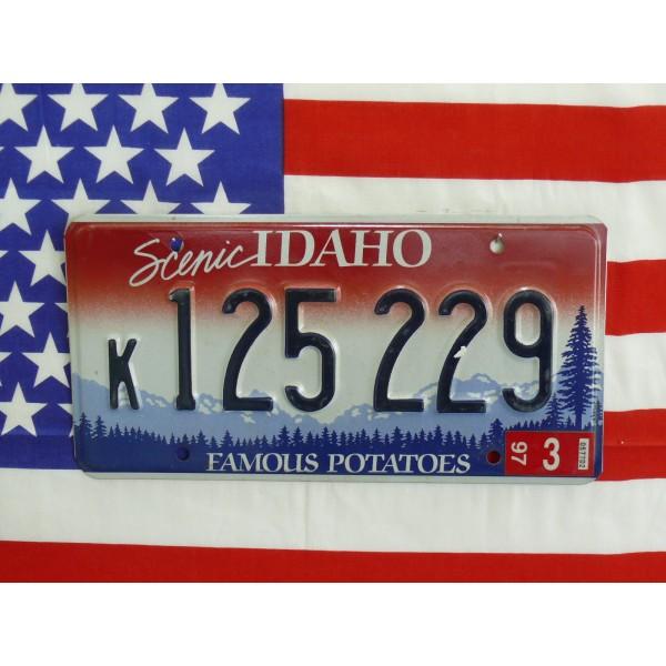 Americká spz Idaho k125229
