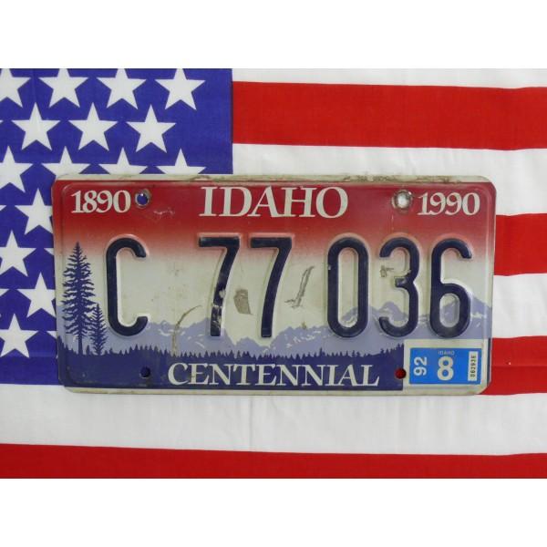 Americká spz Idaho c77036