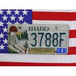 Americká spz Idaho forests today tomorrow