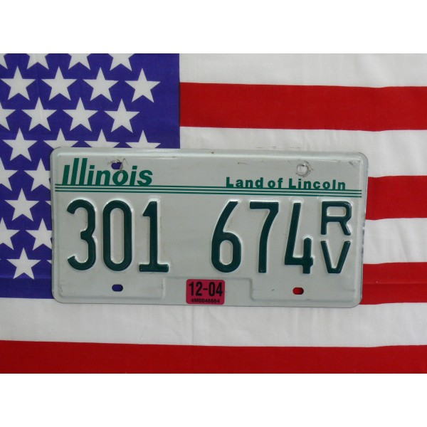 Americká spz Illinois 301674rv