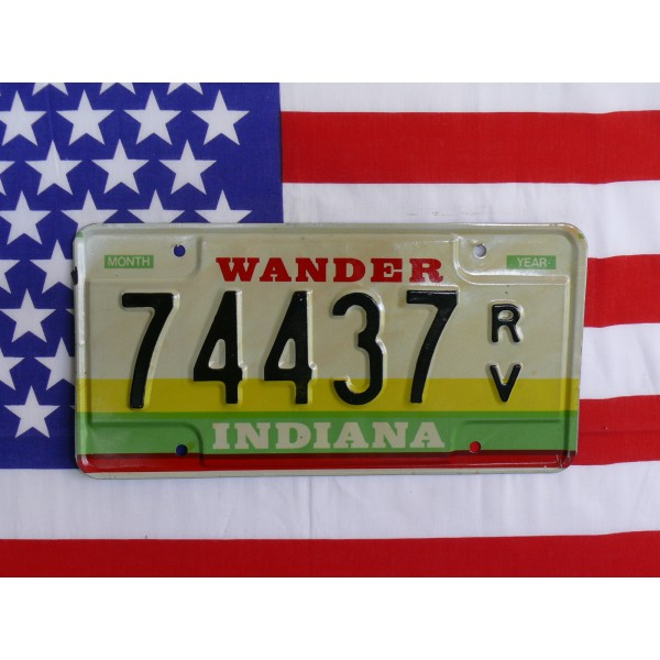 Americká SPZ Indiana 74437
