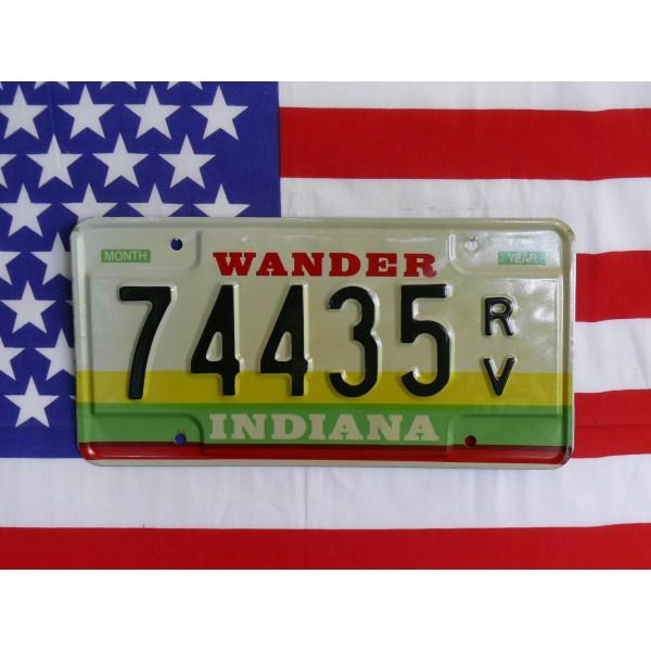 Americká SPZ Indiana 74435
