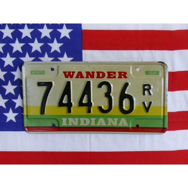 Americká SPZ Indiana 74436