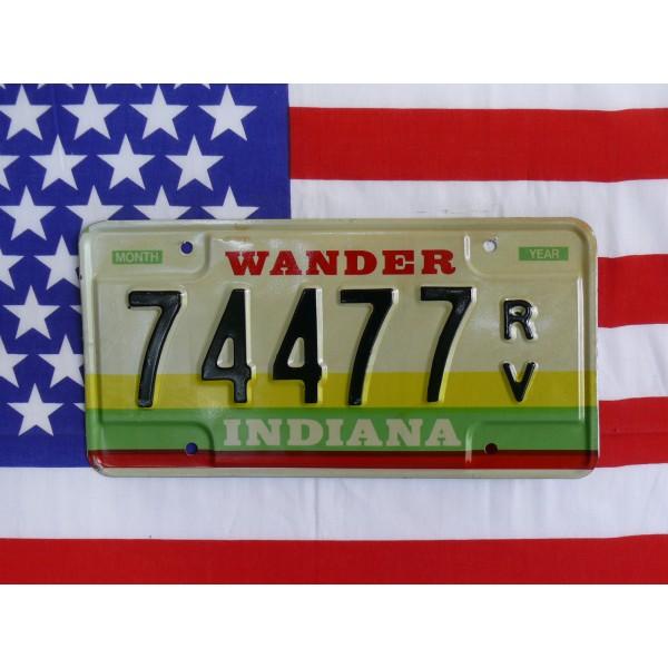 Americká SPZ Indiana 74477
