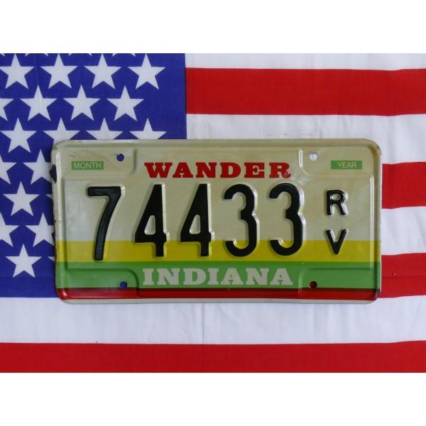 Americká SPZ Indiana 74433