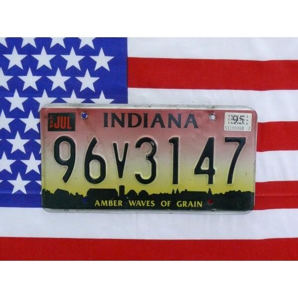 Americká SPZ Indiana 96v3147