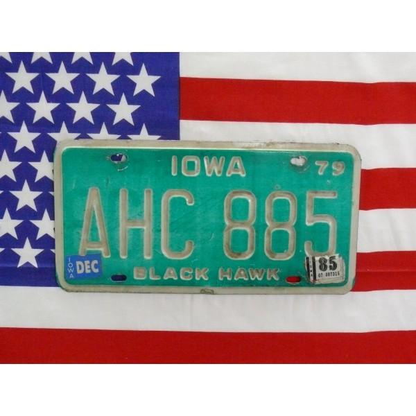 Americká SPZ Iowa ahc885