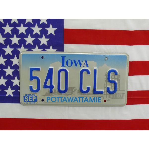 Americká SPZ Iowa 540cls