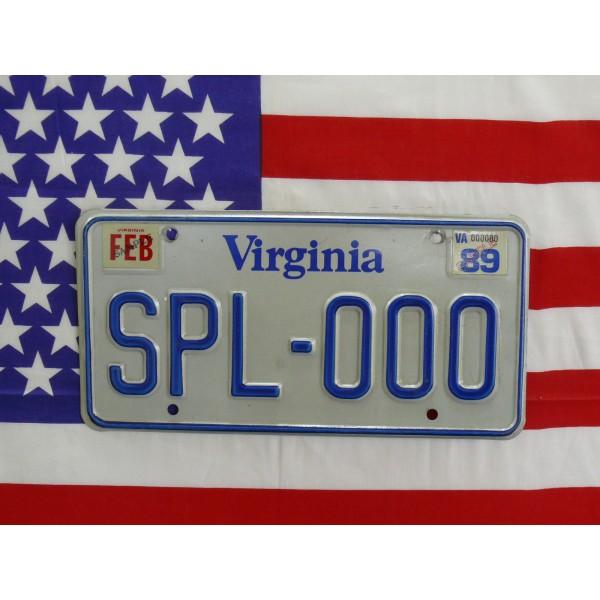 Americká spz Virginia