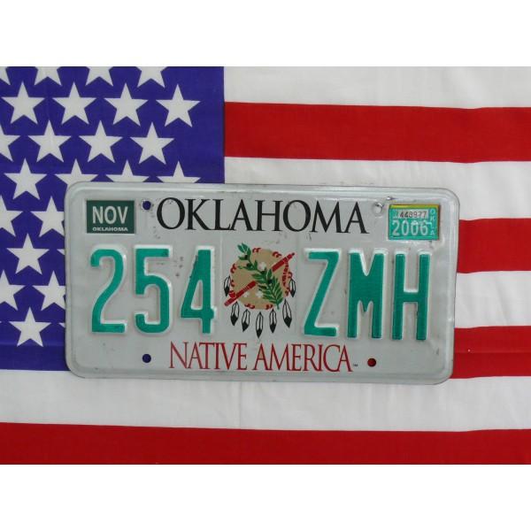 Americká SPZ Oklahoma