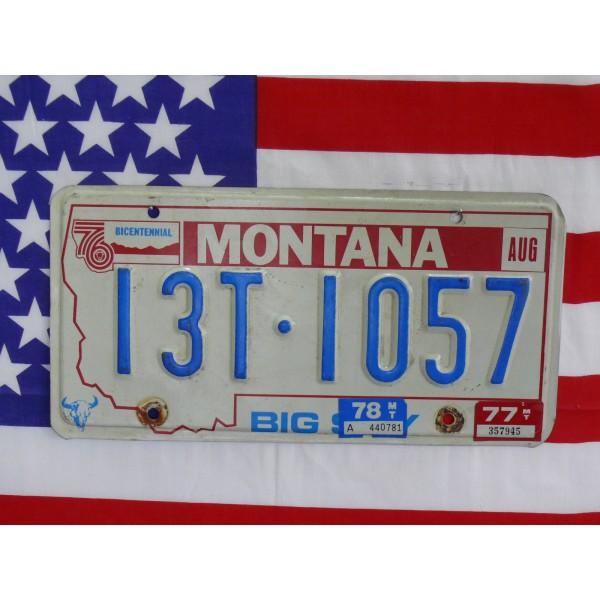 Americká spz Montana 13t 1057