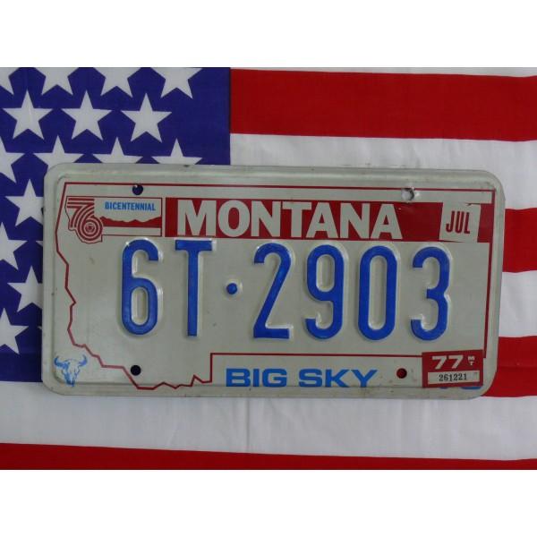 Americká spz Montana 6t2903