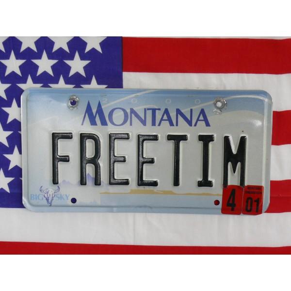 Americká spz Montana  freetime