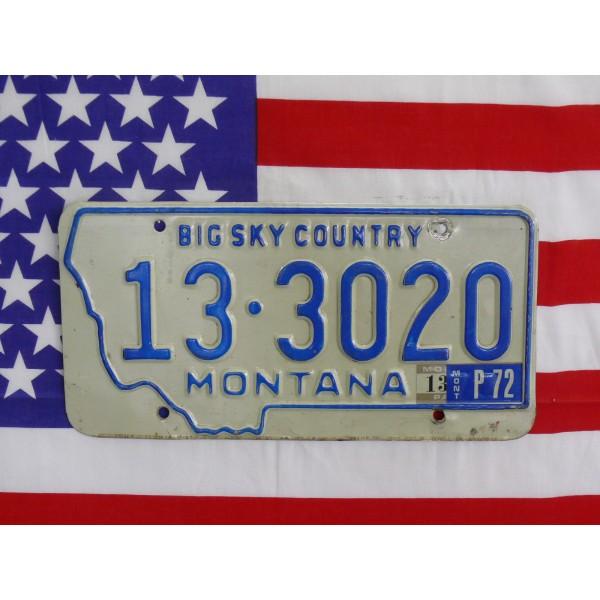 Americká spz Montana 133020