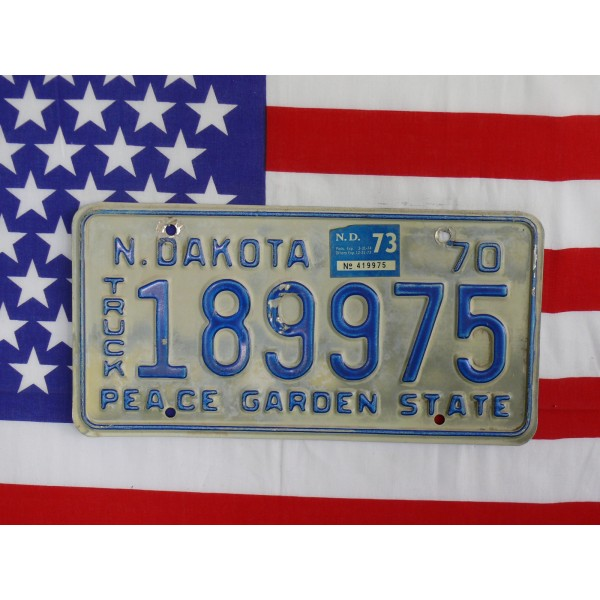 Americká spz North Dakota 189975