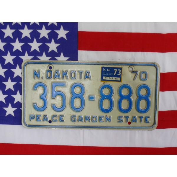Americká spz North Dakota 358888