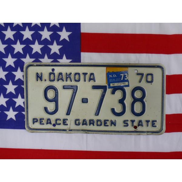 Americká spz North Dakota 97738