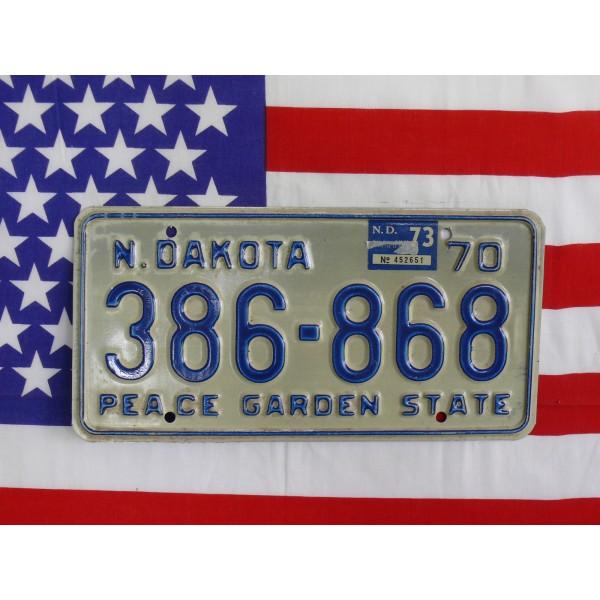 Americká spz North Dakota 386686