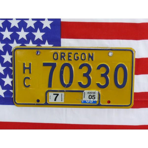 Americká SPZ Oregon 70330