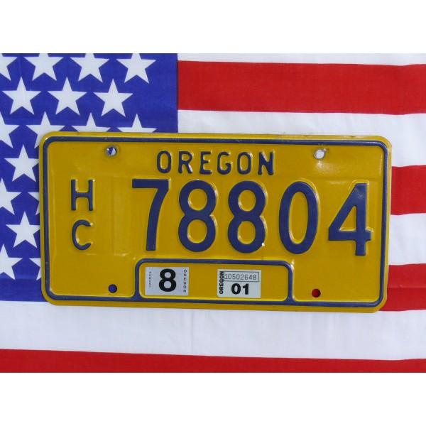 Americká SPZ Oregon 78804