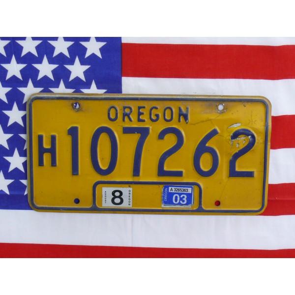 Americká SPZ Oregon 107262